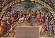 The Parnassus, 1511, Stanza della Segnatura
