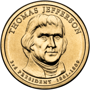 Presidential $1 Coin Program coin for Thomas J...