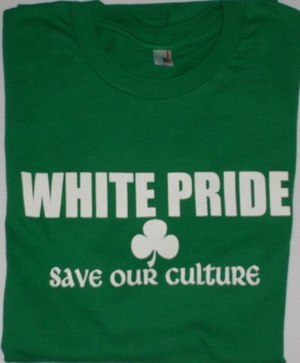 English: White Pride T-shirt sold by Euro Prid...