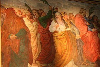 English: Description: Left Apsis: Jesus enteri...