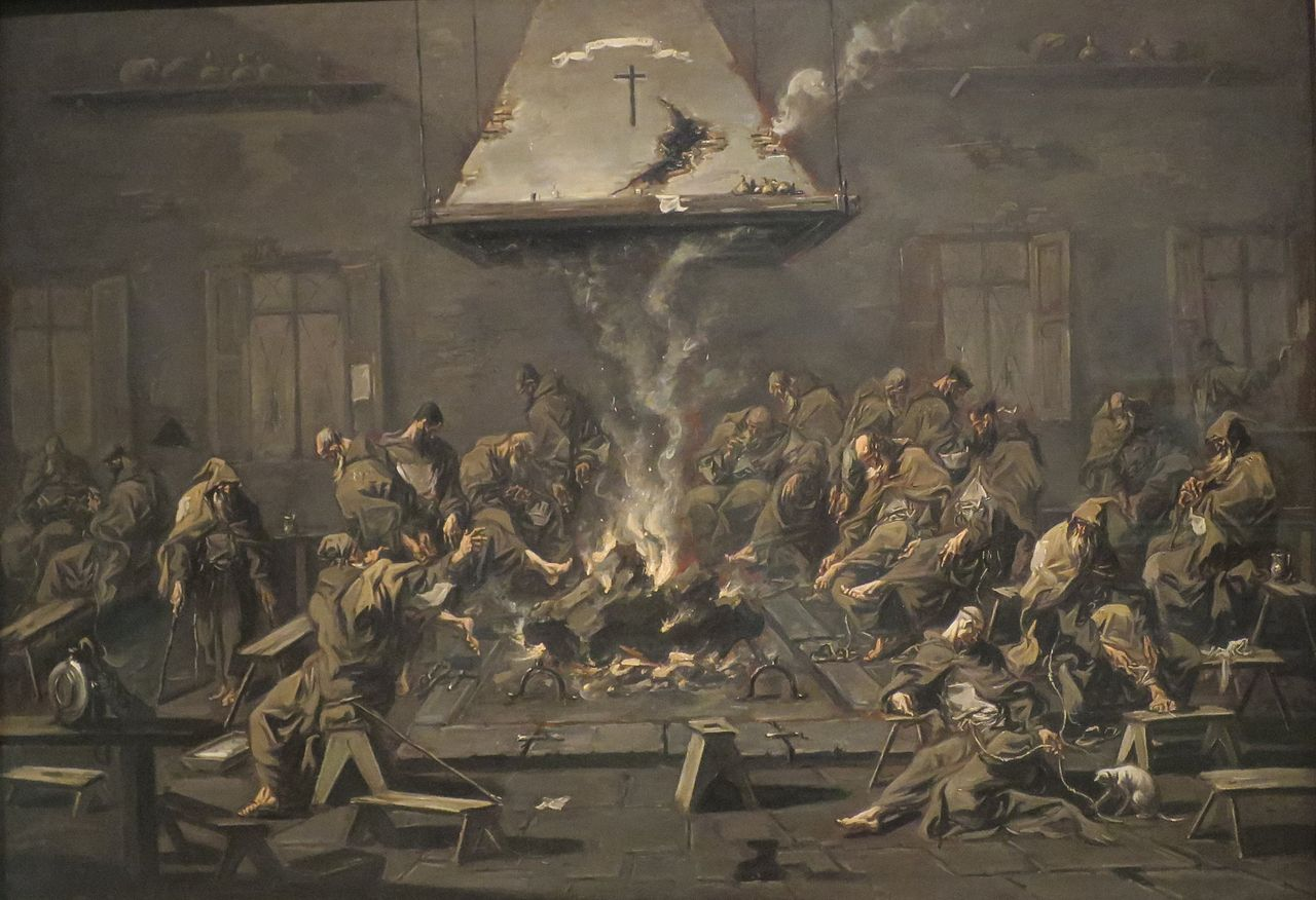File Interior With Monks By Alessandro Magnasco C 1725