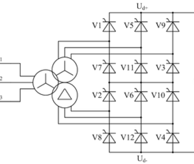 Twelve Pulse Bridge Rectifier Using Thyristors As The Switching Elements