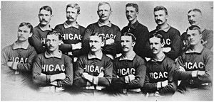The Roster of the 1885 Chicago White Stockings...