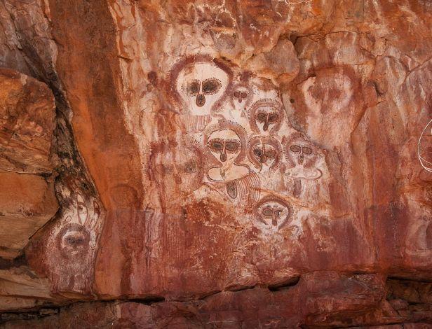 Aboriginal rock art on the Barnett River, Mount Elizabeth Station
