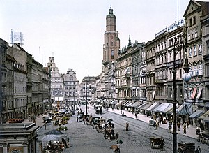 Market Square in Breslau, Germany (now Wrocław...