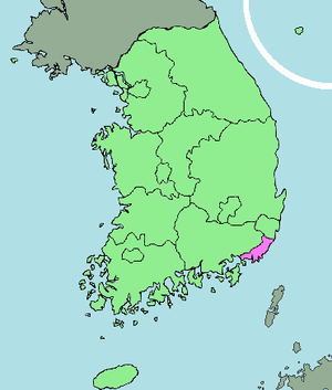 English: area map of Busan