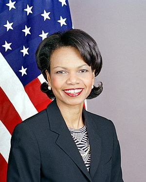 English: An official portrait of Condoleezza R...