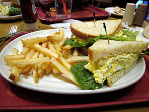 best egg salad sandwich ever, flying star, Alb...