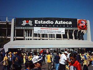 Azteca stadium in Mexico City