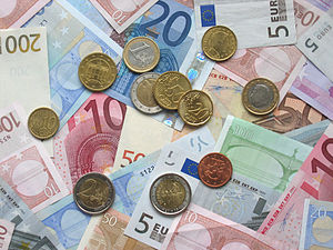 Euro currency (coins from first issues)