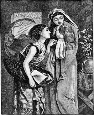 Jocheved, Miriam, and Moses (illustration from...