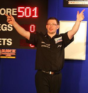 English: James Wade the darts player