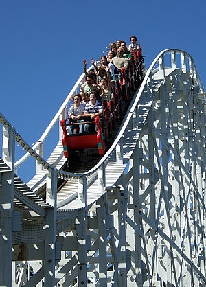 The Scenic Railway at Luna Park (Melbourne, Au...