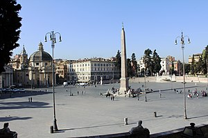 English: Look at Piazza del Popolo, Rome, Ital...