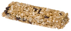 English: A chocolate chip granola bar made by ...