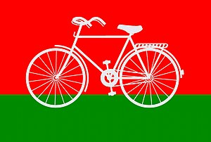 English: The Flag of Samajwadi Party, India wi...