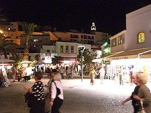 The Old Town Square in Albufeira, Algarve, Por...