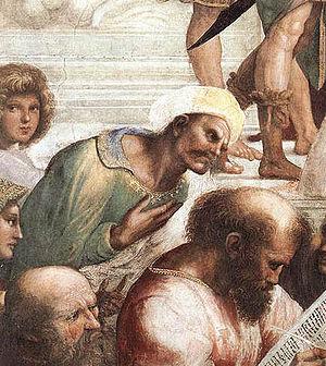 Ibn Rushd of Córdoba, detail from the fresco &...