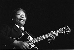 Français : Le bluesman américain B. B. King en...