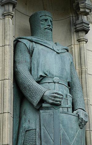 Braveheart, statue at Edinburgh Castle, depict...