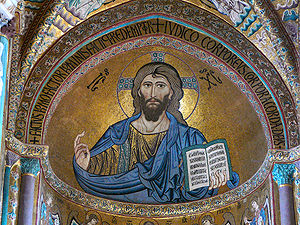 Christ Pantokrator in the apse of the Cathedra...