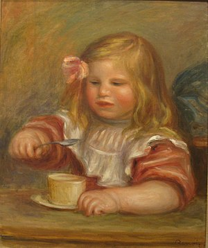 Coco Eating His Soup, 1905, by Pierre-August R...