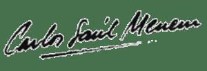 Firma del ex presidente argentino Carlos Menem