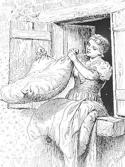 Goldmarie aus Grimms Märchen Frau Holle