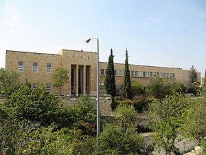 English: Hebrew University campus on Mount Sco...
