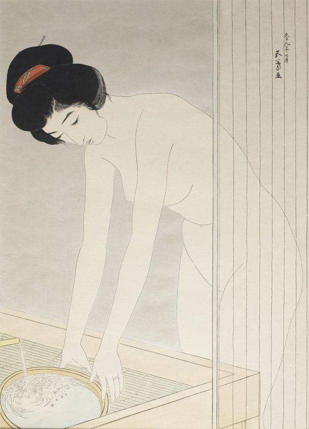 Hashiguchi Goyo - Woman Washing Her Face - Walters 95888