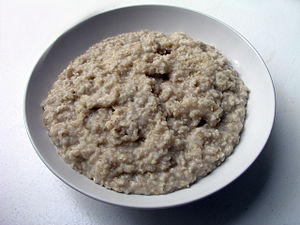 Oatmeal (here: oat,water,salt). Danish: havregrød