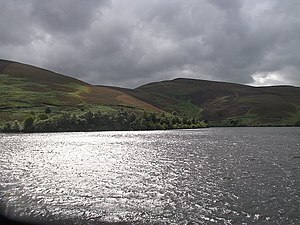 English: Hopes Reservoir The water, seen from ...