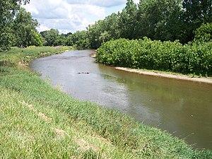 The Kokosing River in Mount Vernon, Ohio