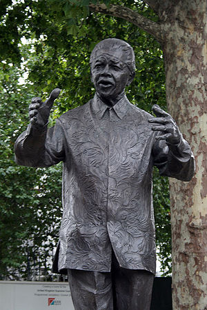 Nelson Mandela statue by Ian Walters, London/UK