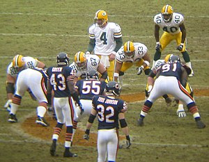 A shot from the Chicago Bears vs Green Bay Pac...
