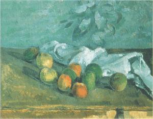 Pommes Et Serviette. Painting.