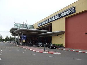 Entrance of Phnom Penh International Airport