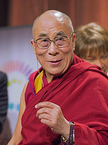 دالاي لاما الراهب اعلى في التيبت القائد الروحي للبوذية