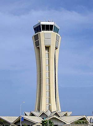 Control Tower at Malaga Airport, built in 2002