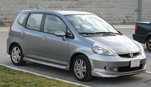 2007 Honda Fit Sport photographed in USA.