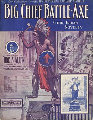 "Sheet music cover ""Big Chief Battle-Axe&q..."