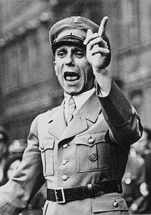 Dr. Joseph Goebbels, head of Germany's Ministr...