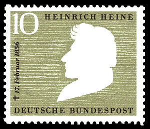 English: 100th day of death of Heinrich Heine ...