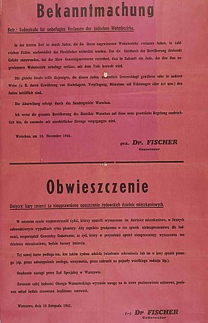 Nazi-German annoucement of the introduction of...