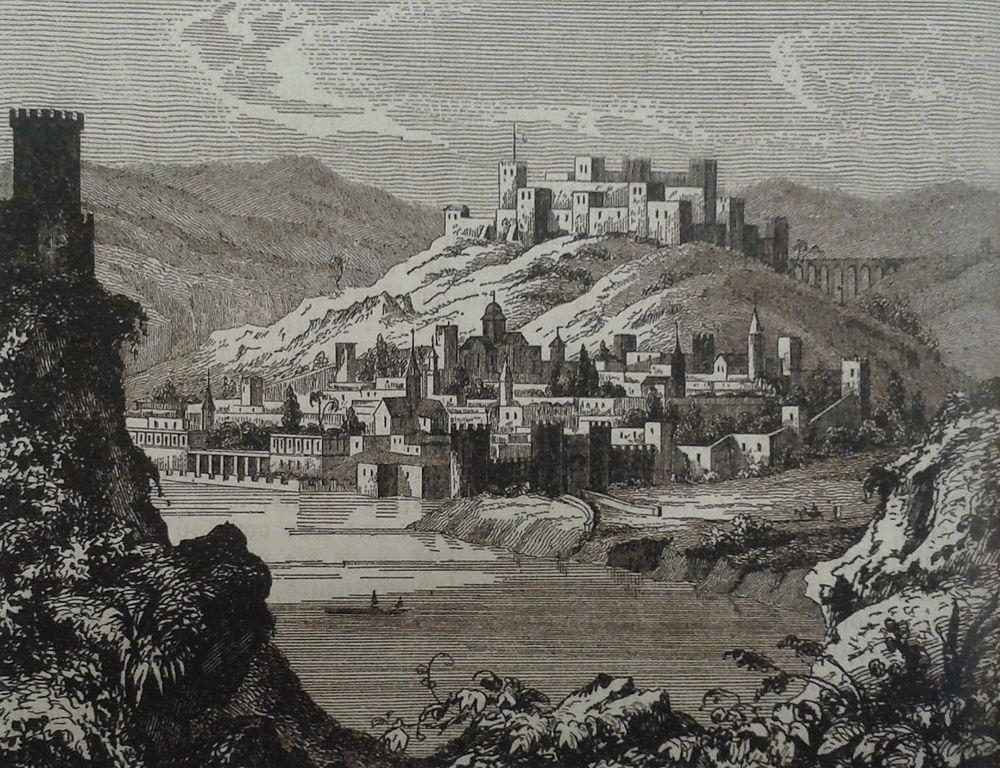 File German Engraving Of Tbilisi 19th Century Jpg
