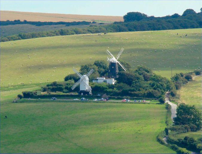 Jack and Jill windmills from Wolstonbury Hill