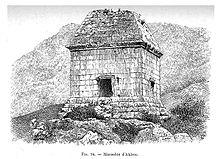 Dessin du mausolée antique d'Akbou