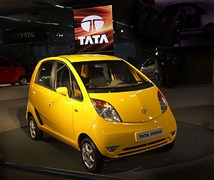 Planet's cheapest car, the Nano xj.
