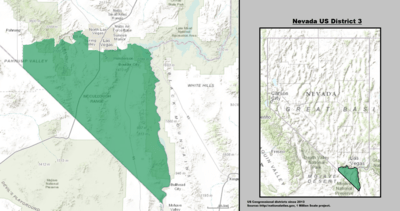 Nevada's 3rd congressional district - since January 3, 2013.