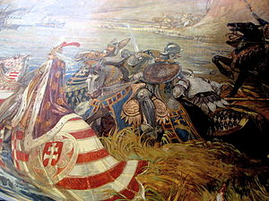 Titusz Vay saves the king Sigismund of Hungary...